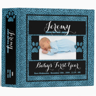 Baby's 1st Year | Photo Scrapbook | Blue Cheetah Binder
