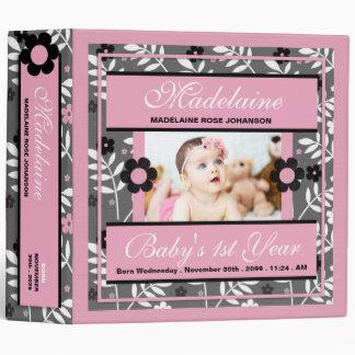 Baby's 1st Year   Photo Scrapbook   Pink Binder