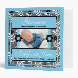 Baby's 1st Year | Photo Scrapbook | Retro Blue Binder