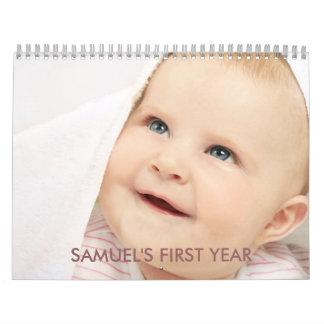 Baby's 1st Year Timeline Photo Calendar