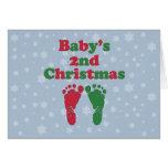 Baby's 2nd Christmas Greeting Card