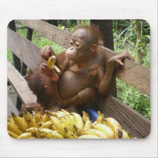Baby's Banana Picnic Mouse Pad