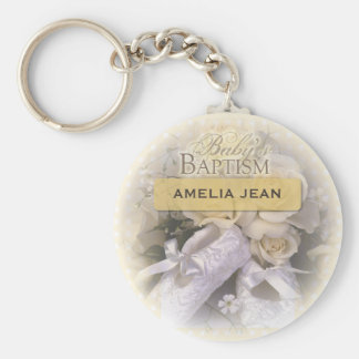 Baby's Baptism Neutral, Custom, Personalize, Ameli Keychain