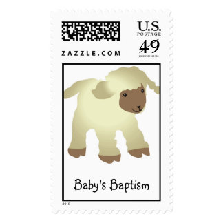 Baby's Baptism Postage Stamp