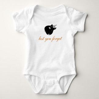 Baby's Basic Guitar Logo Baby Bodysuit