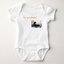 Baby's Basic Horse Cart Logo Baby Bodysuit