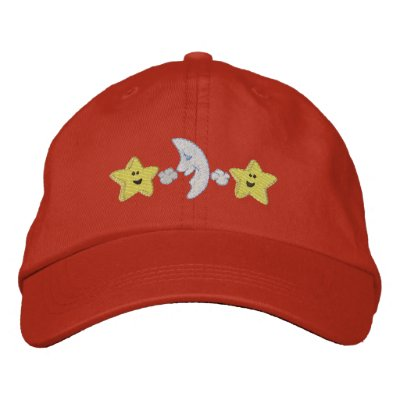 Baby's Bedtime Embroidered Hat