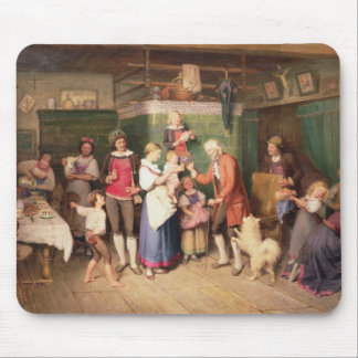 Baby's birthday party mouse pad