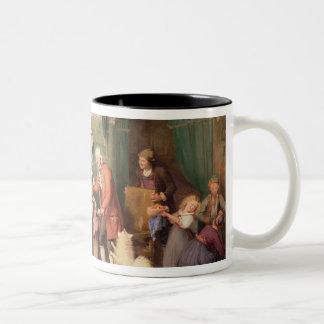 Baby's birthday party Two-Tone coffee mug
