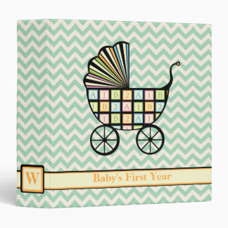 Baby's Blocks Stroller 3-Ring Binder