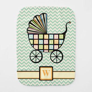 Baby's Blocks Stroller Burp Cloth