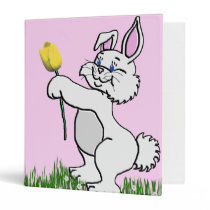 Baby's Book - Two Bunnies & Tulips 3 Ring Binder