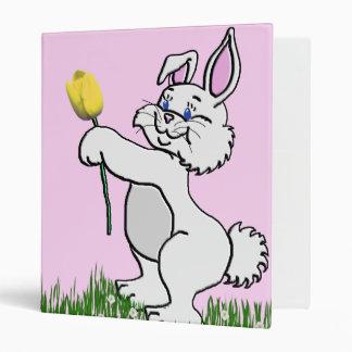 Baby's Book - Two Bunnies & Tulips 3 Ring Binder