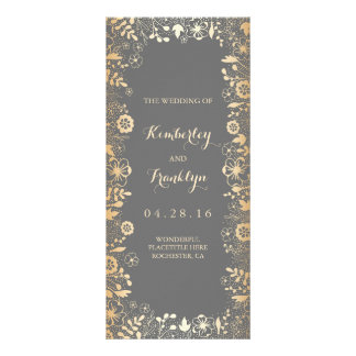 Baby's Breath and Gold Florals Wedding Programs