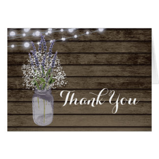 Baby's Breath and Lavender Jar Thank You Card