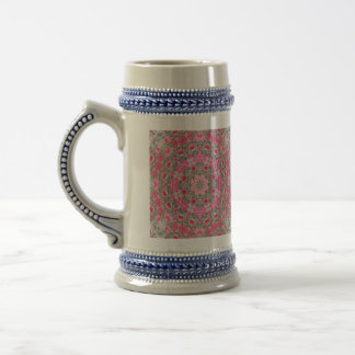 Baby's Breath and Pink Roses Rhodochrosite Beer Stein