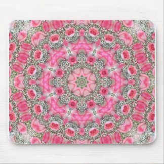 Baby's Breath and Pink Roses Rhodochrosite Mouse Pad