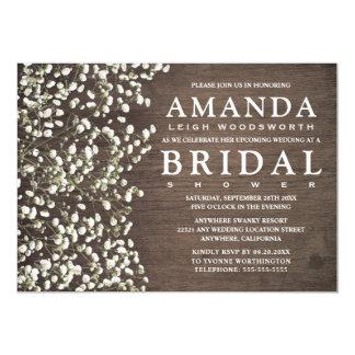 babyu0027s breath barn wood bridal shower invitations