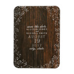 Baby's Breath Barn Wood Save The Date Rectangular Photo Magnet