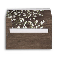 Baby's Breath Barn Wood Wedding Envelopes