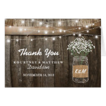 Baby's Breath Barrel Country Rustic Thank You