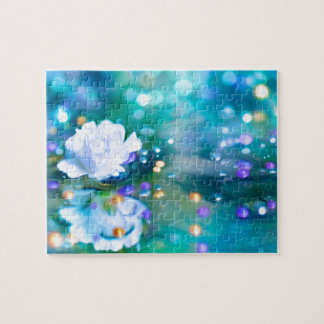 Baby's Breath Blue Jigsaw Puzzle