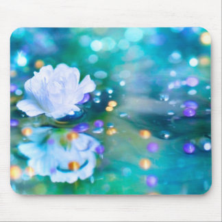 Baby's Breath Blue Mouse Pad