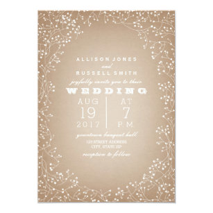 Cardstock Invitations Zazzle