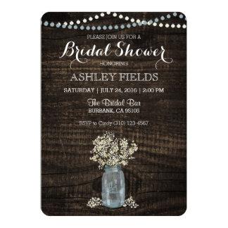 Baby's Breath Bridal Shower Invitation