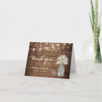 Baby's Breath Floral Mason Jar Lights Thank You