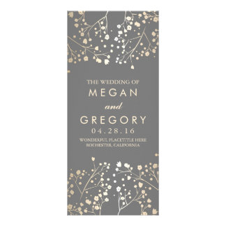Baby's Breath Gold Foil Effect Wedding Programs