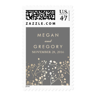 Baby's Breath Gold Foil Wedding Stamp