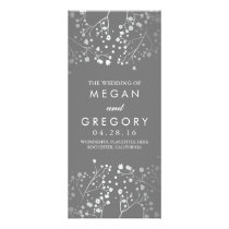 Baby's Breath Grey and Silver Wedding Program