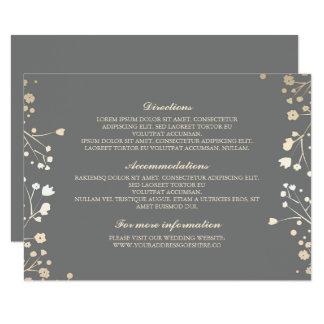 Baby's Breath Grey Wedding Details - Information Card