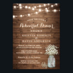 "Baby&#39;s Breath Jar String Lights Rehearsal Dinner Invitation<br><div class=""desc"">Rustic Baby&#39;s Breath Mason Jar String Lights Rehearsal Dinner Invitation Template. (1) For further customization, please click the &quot;customize further&quot; link and use our design tool to modify this template. (2) If you prefer Thicker papers / Matte Finish, you may consider to choose the Matte Paper Type. (3) If you...</div>"