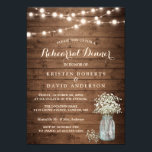 "Baby&#39;s Breath Jar String Lights Rehearsal Dinner Invitation<br><div class=""desc"">================= ABOUT THIS DESIGN ================= Rustic Baby&#39;s Breath Mason Jar String Lights Rehearsal Dinner Invitation Template. (1) For further customization, please click the &quot;Customize it&quot; button and use our design tool to modify this template. All text style, colors, sizes can be modified to fit your needs. (2) If you prefer...</div>"