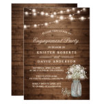 Baby&#39;s Breath Mason Jar Rustic Engagement Party Card<br><div class='desc'>================= ABOUT THIS DESIGN ================= Baby&#39;s Breath Mason Jar Rustic Engagement Party Invitation. (1) For further customization, please click the &quot;Customize it&quot; button and use our design tool to modify this template. All text style, colors, sizes can be modified to fit your needs. (2) If you prefer thicker papers, you...</div>
