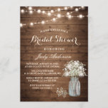 """Baby's Breath Mason Jar Rustic Wood Bridal Shower Invitation<br><div class=""""desc"""">Create your perfect invitation with this pre-designed templates, you can easily personalize it to be uniquely yours. For further customization, please click the """"customize further"""" link and use our easy-to-use design tool to modify this template. If you prefer Thicker papers / Matte Finish, you may consider to choose the Matte...</div>"""