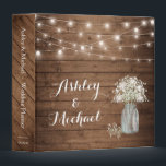 "Baby's Breath Mason Jar String Lights Wedding Binder<br><div class=""desc"">Baby"