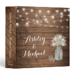 Baby&#39;s Breath Mason Jar String Lights Wedding Binder<br><div class='desc'>================= ABOUT THIS DESIGN ================= Baby&#39;s Breath Mason Jar String Lights Wedding Planner Binder. (1) For further customization, please click the &quot;Customize&quot; button and use our design tool to modify this template. All text style, colors, sizes can be modified to fit your needs. (2) If you need help or matching...</div>