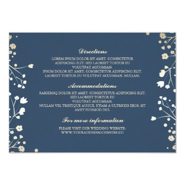 Toddler & Baby themed Baby's Breath Navy Wedding Details - Information Card