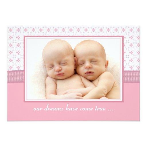 Baby's Breath Photo Birth Announcement
