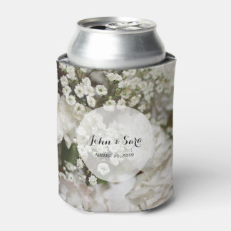 Baby's Breath Photo, Personalized Wedding Can Cooler