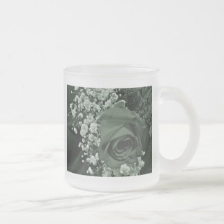 Baby's Breath & Rose - Forest Frosted Glass Coffee Mug