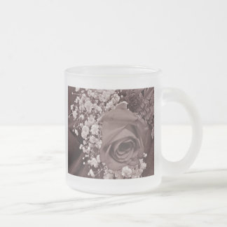 Baby's Breath & Rose - Heather 10 Oz Frosted Glass Coffee Mug