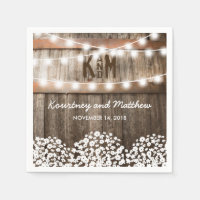 Baby's Breath Rustic Country Wedding Napkin