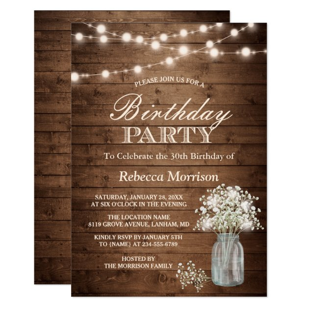 Personalized Surprise party Invitations – Surprise 30th Birthday Party Invitations