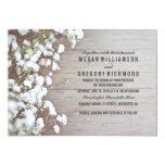 Baby's Breath Rustic Wedding 5x7 Paper Invitation Card