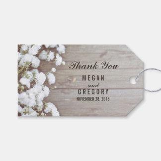 Rustic Wedding Gift Tags : Babys Breath Rustic Wedding Gift Tags