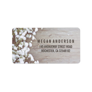 Baby's Breath Rustic Wedding Label